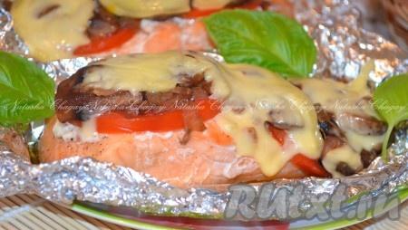 лосось стейками в духовке рецепт с фото