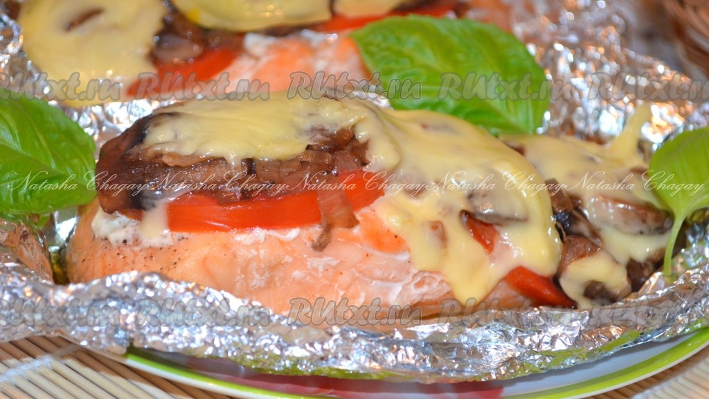 лосось в духовке с сыром рецепты