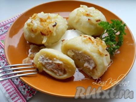 Картофельные галушки с мясом – кулинарный рецепт