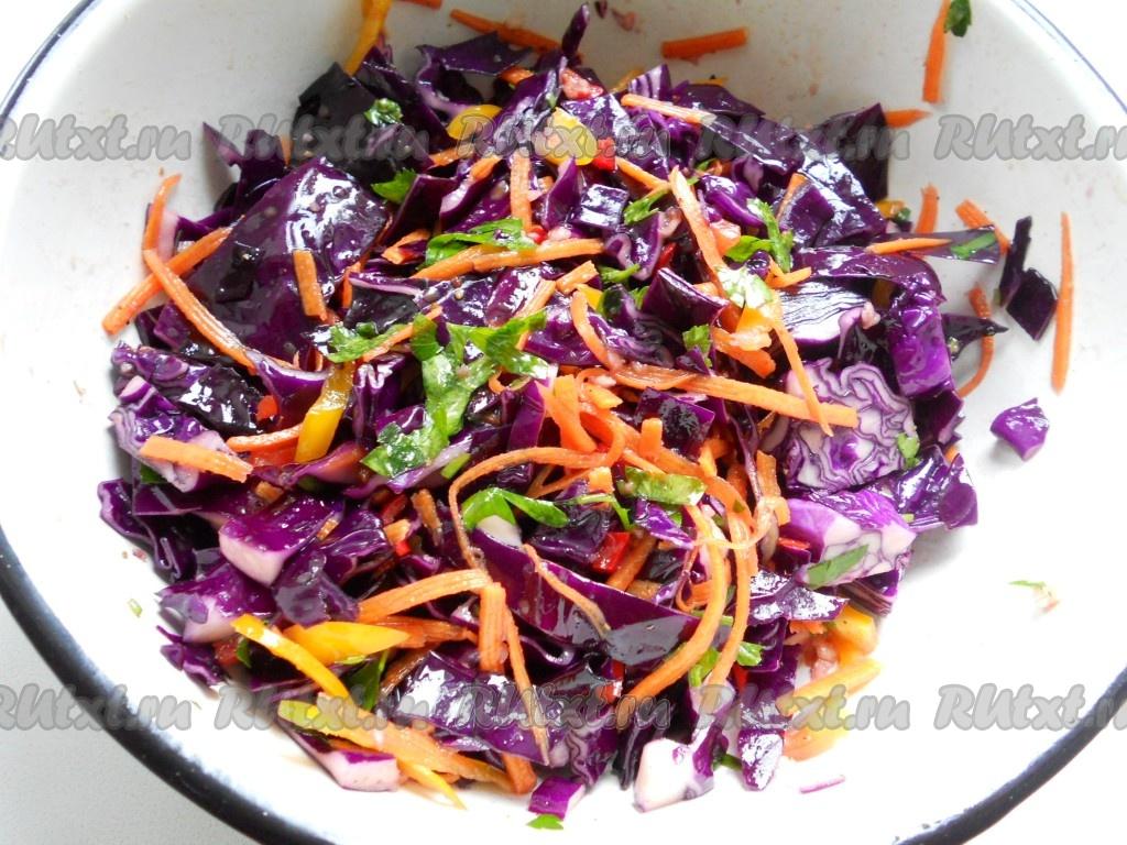 салат с синей капусты рецепт фото