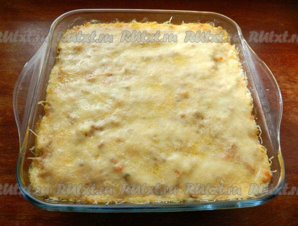 Рецепт лазанья с фаршем из готовых листов