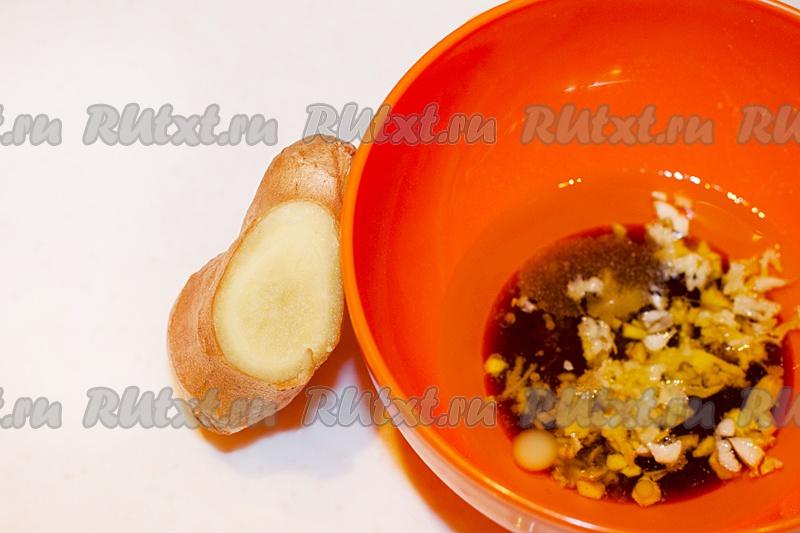 102Салат с имбирным соусом рецепт