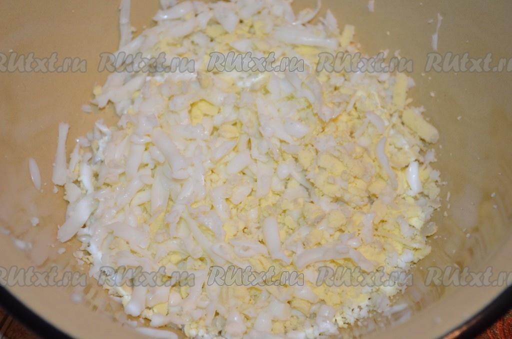 рецепт свекольного салата с сыром и яйцом