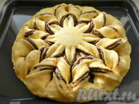 Дрожжевой пирог на кефире с маком и повидлом - рецепт пошаговый с фото