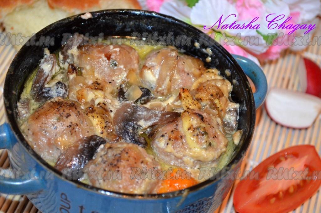 фрикадельки в горшочках в духовке рецепты с фото