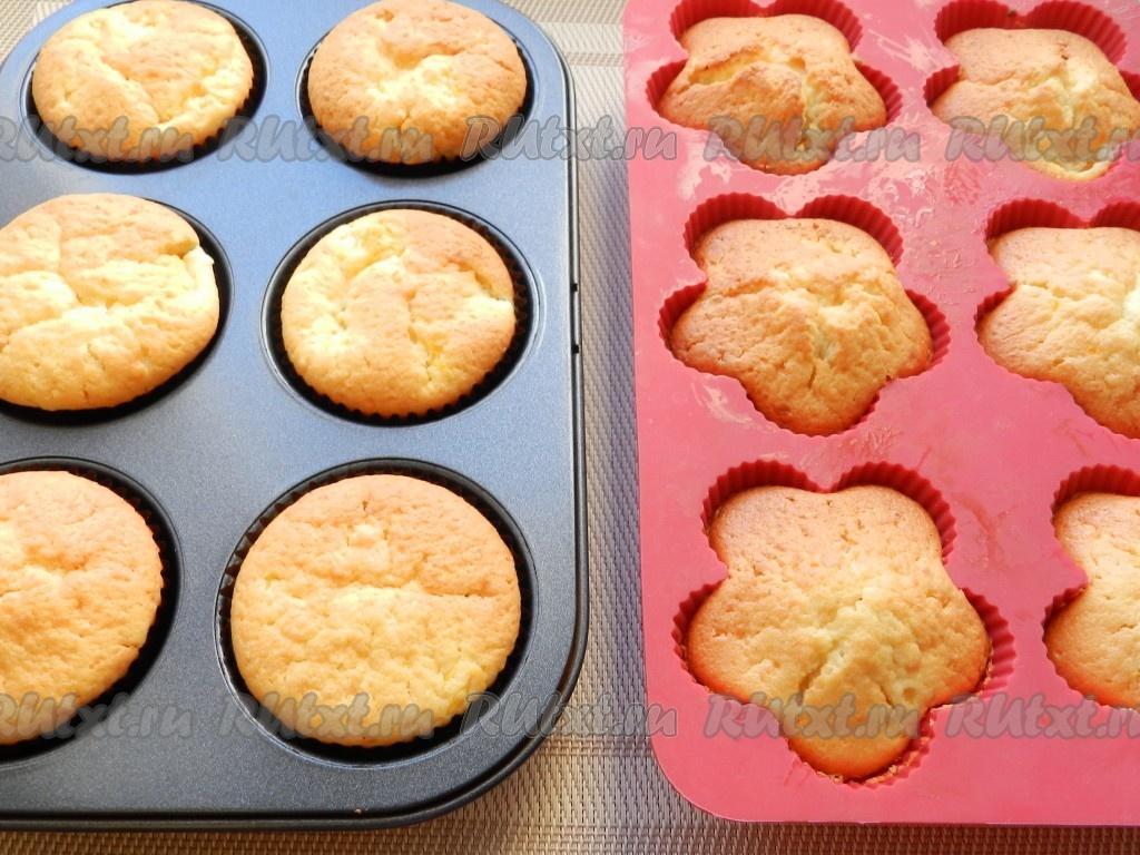 Творожные кексы в силиконовых формочках рецепты с пошагово