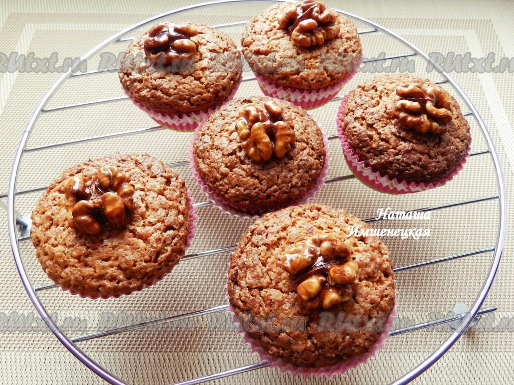кекс с грецкими орехами рецепты в силиконовых формочках с фото в духовке