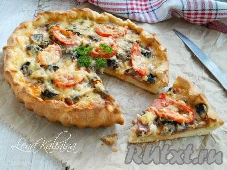 Пирог с курицей и грибами — рецепт с фото пошагово. Как ...