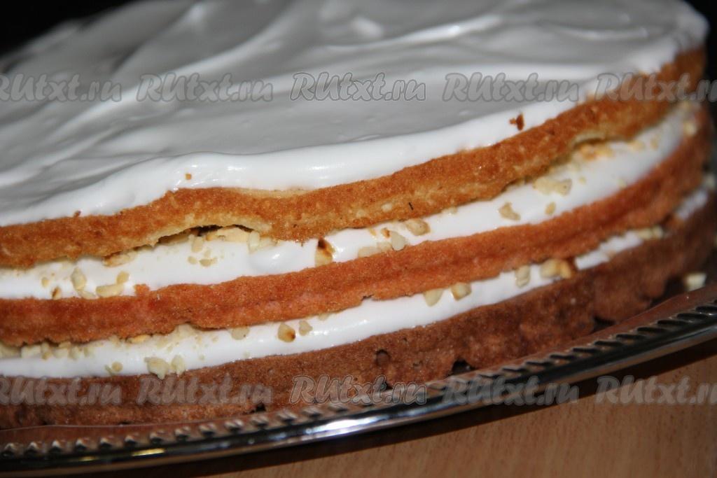 Белково ореховый торт рецепт