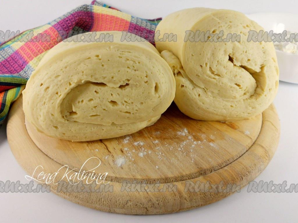 слоеное дрожжевое тесто рецепт в домашних условиях с фото