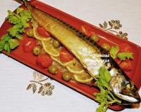 Скумбрия в горчичном соусе запеченная в духовке изоражения