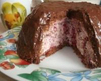 Изысканный вишневый торт - рецепт пошаговый с фото