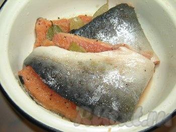 Хребет красной рыбы рецепт