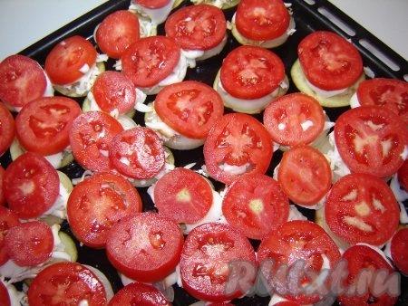 Баклажаны, запеченные с помидорами Закуска из баклажанов и помидоров...