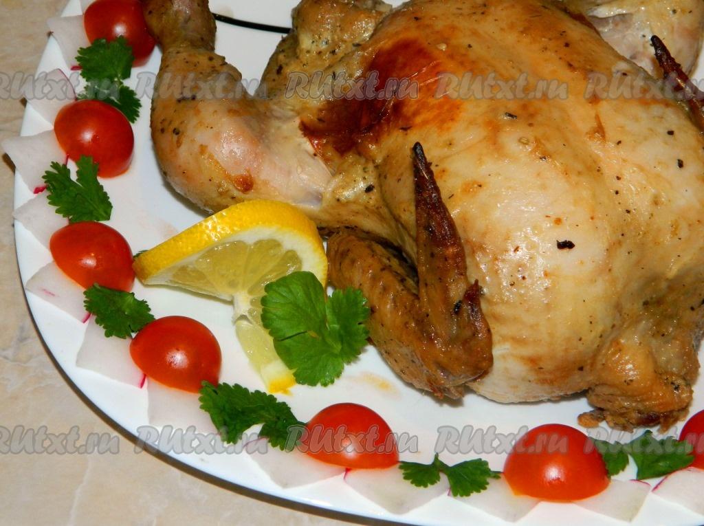рецепты из курицы целой в духовке