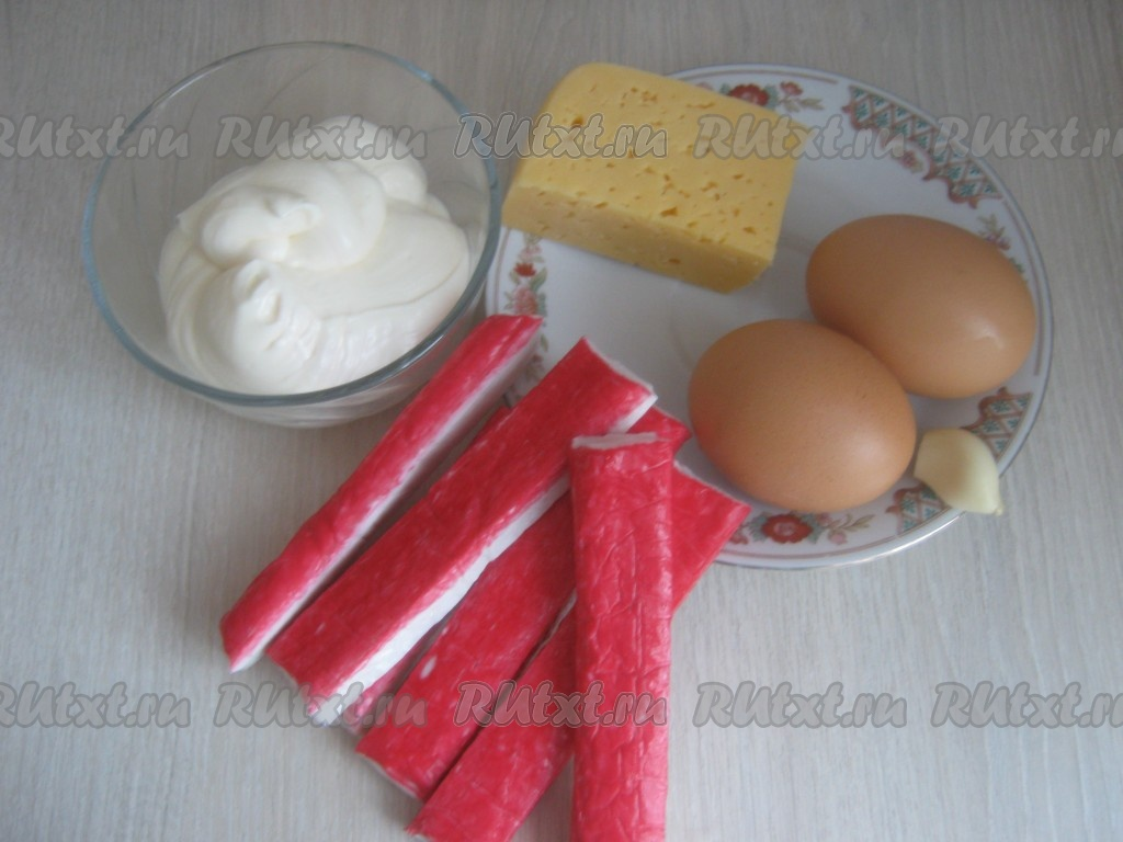 Снежки из крабовых палочек рецепт