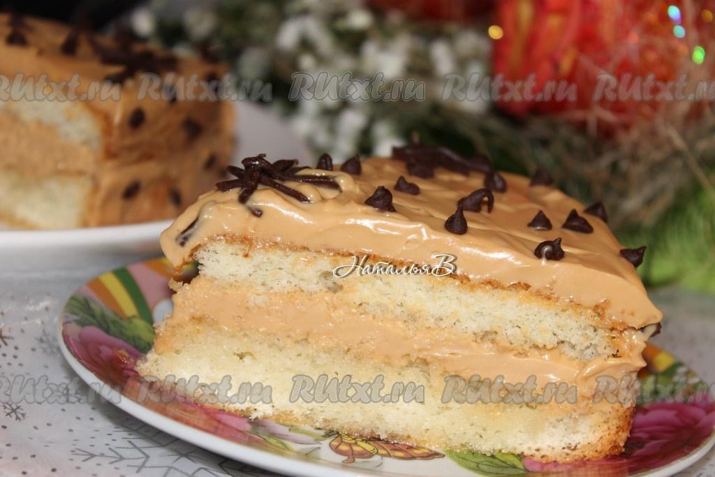 торт ириска в шоколаде рецепт с фото