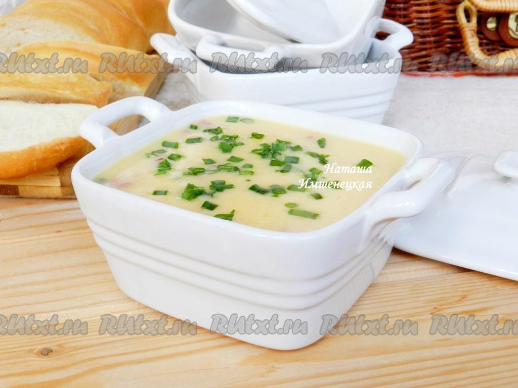 сырные супы с колбасой рецепты с фото