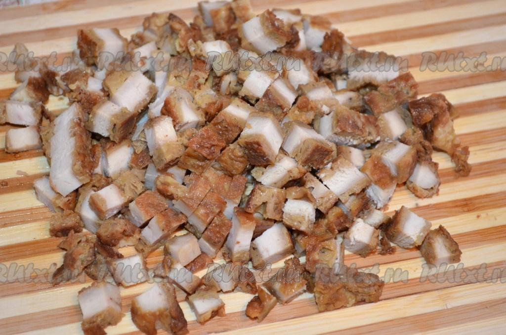 рецепт салата с грецкими орехами слоями