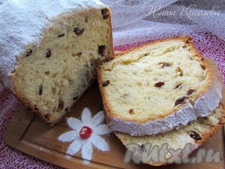 Сладкий хлеб к чаю с изюмом в хлебопечке - рецепт пошаговый с фото