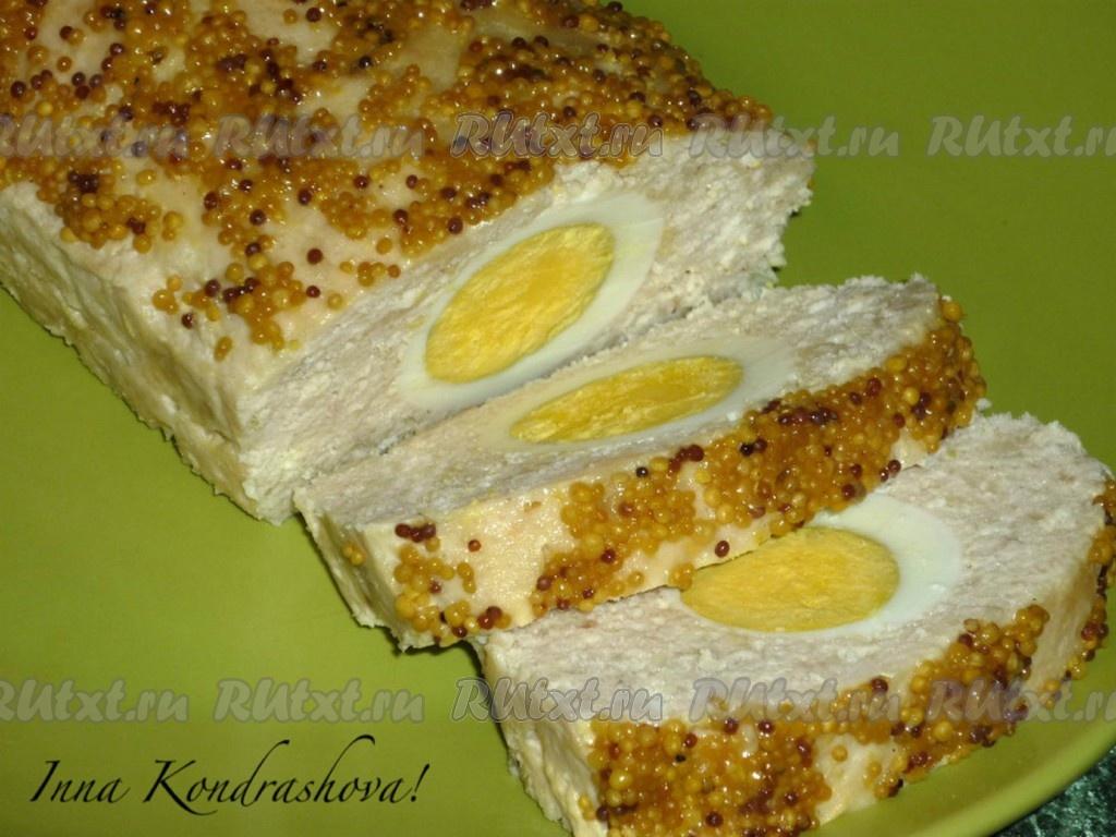 мясной хлеб с яйцом в духовке рецепт с фото