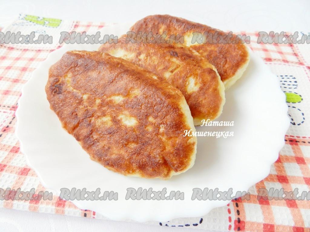 пирожки из творожного теста на сковороде с яблоками