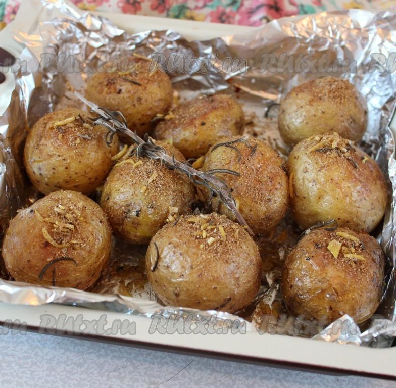 молодой картофель в мундире в духовке рецепт с фото