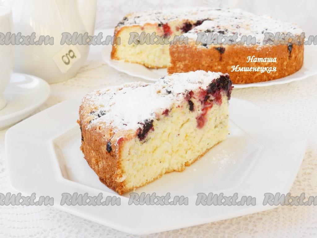 бисквитный пирог рецепт с фото