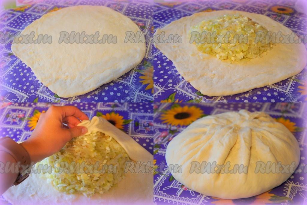 форма пирожков с капустой из дрожжевого теста