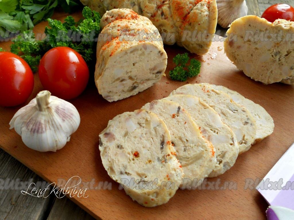 куриная колбаса в домашних условиях рецепт с фото