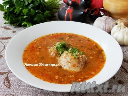 суп харчо рецепт классический с рисом и картофелем и курицей