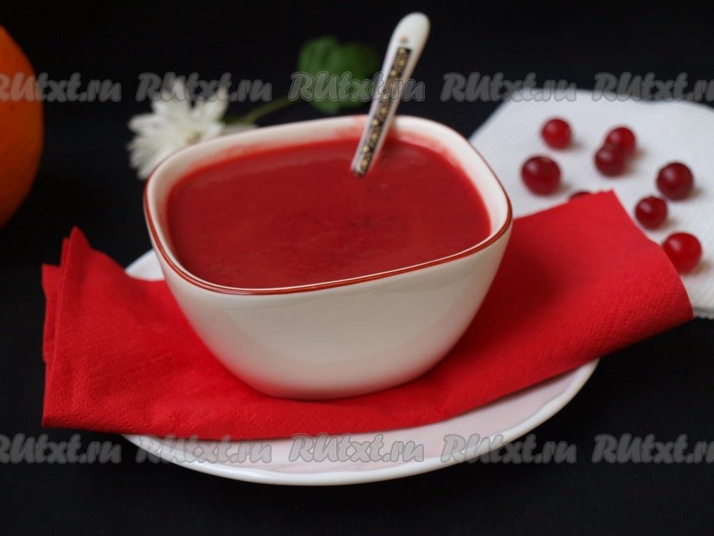 вкусный соус из клюквы к рыбе рецепт с фото