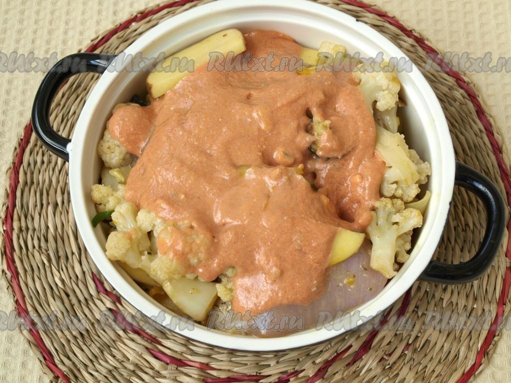как приготовить соус для запекания курицы с овощами