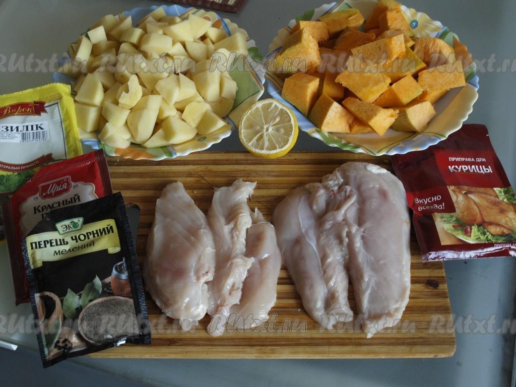 как приготовить филе курицы в духовке с картошкой