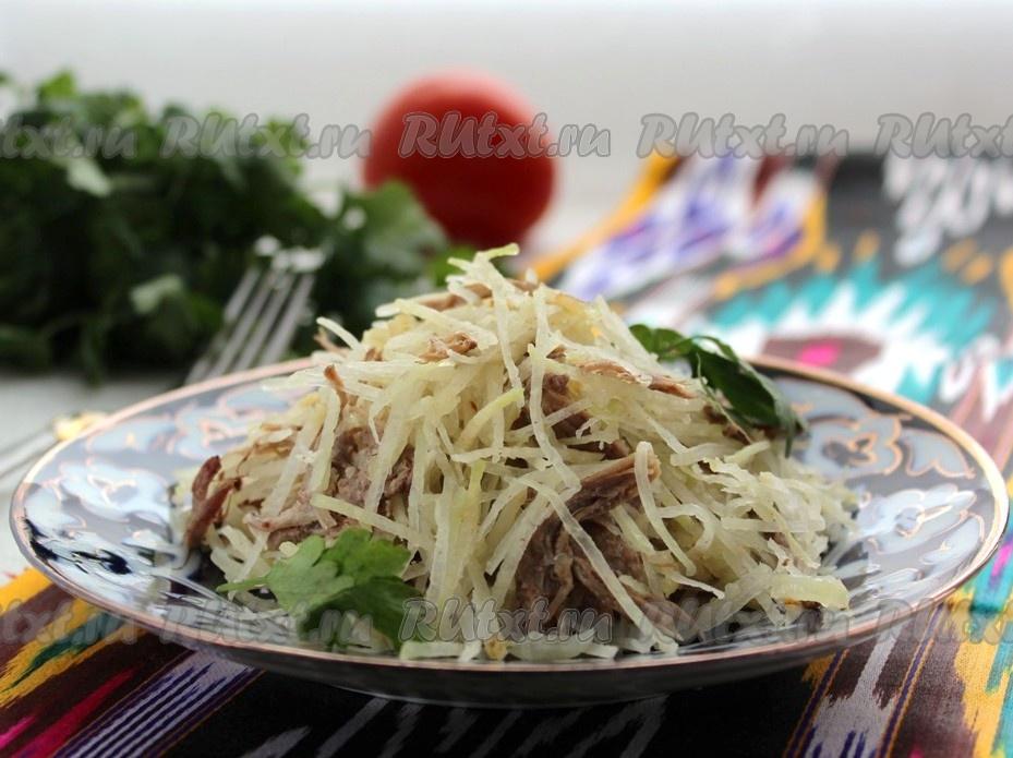 рецепт восточного салата с мясом