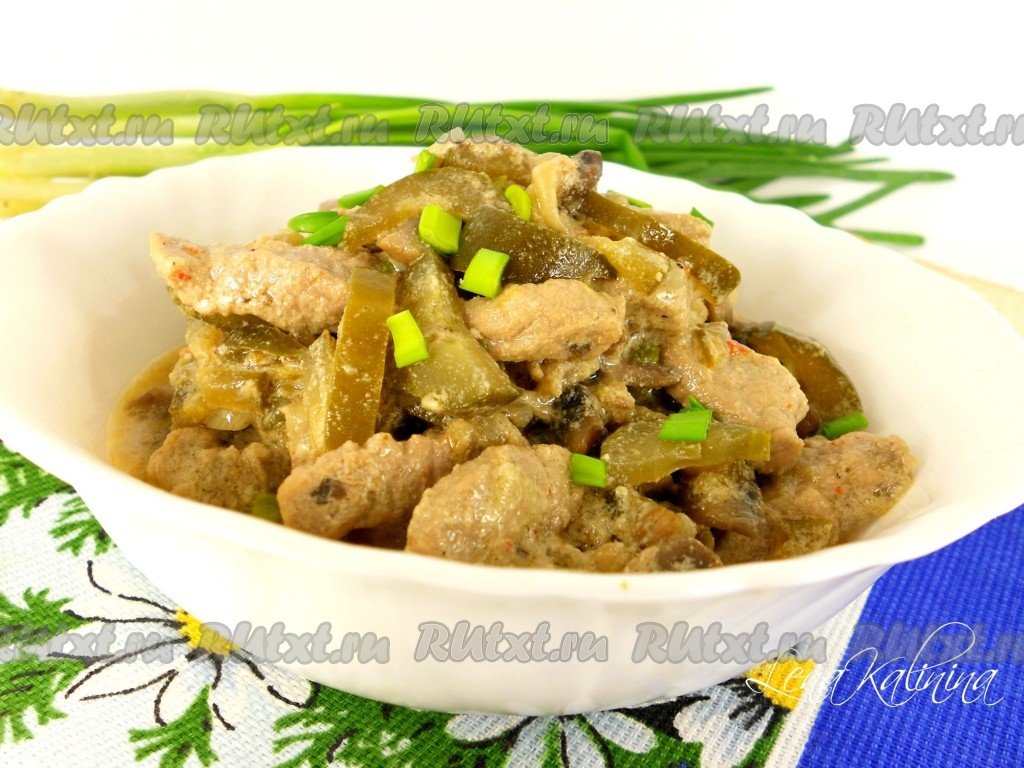 рецепт бефстроганов из свинины с грибами и сливками