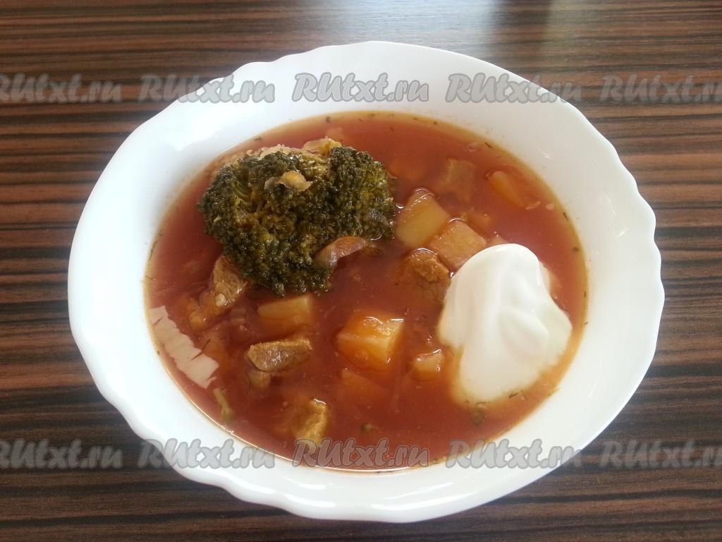 Суп с брокколи с говядиной рецепт