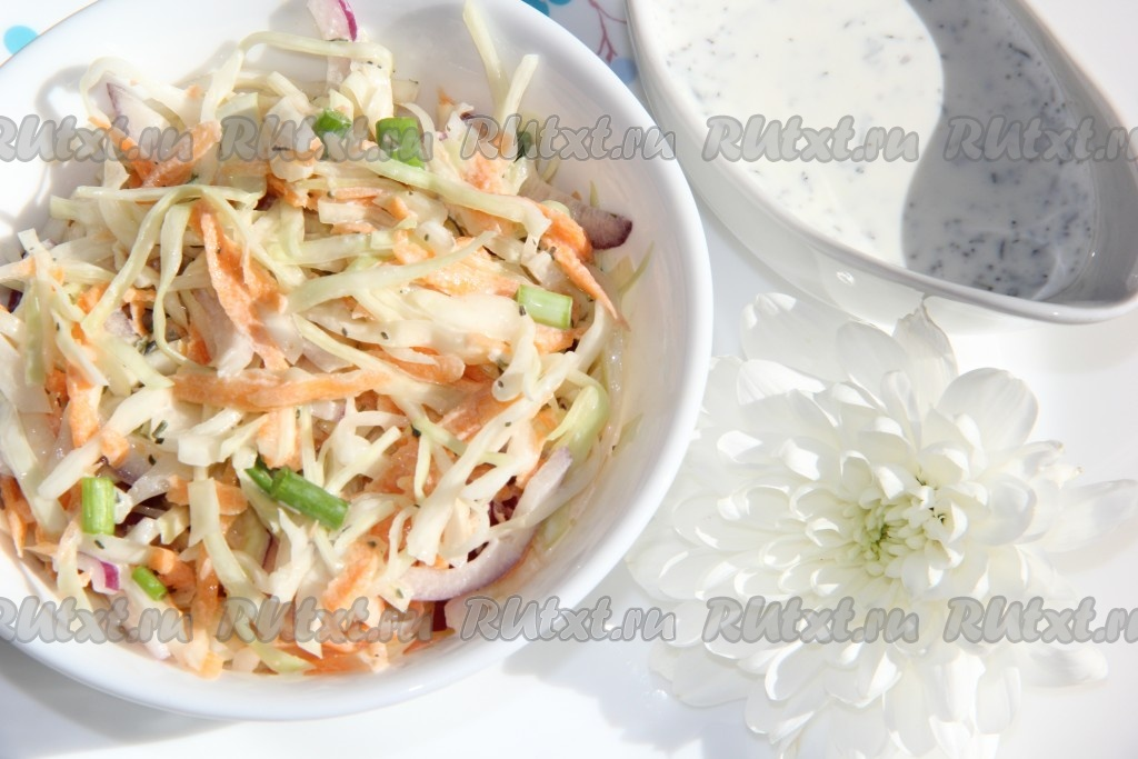 Салат из свежей капусты простой рецепт очень вкусный с