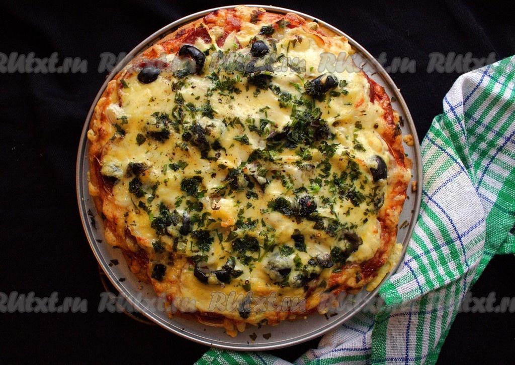пицца на бездрожжевом тесте рецепт в мультиварке