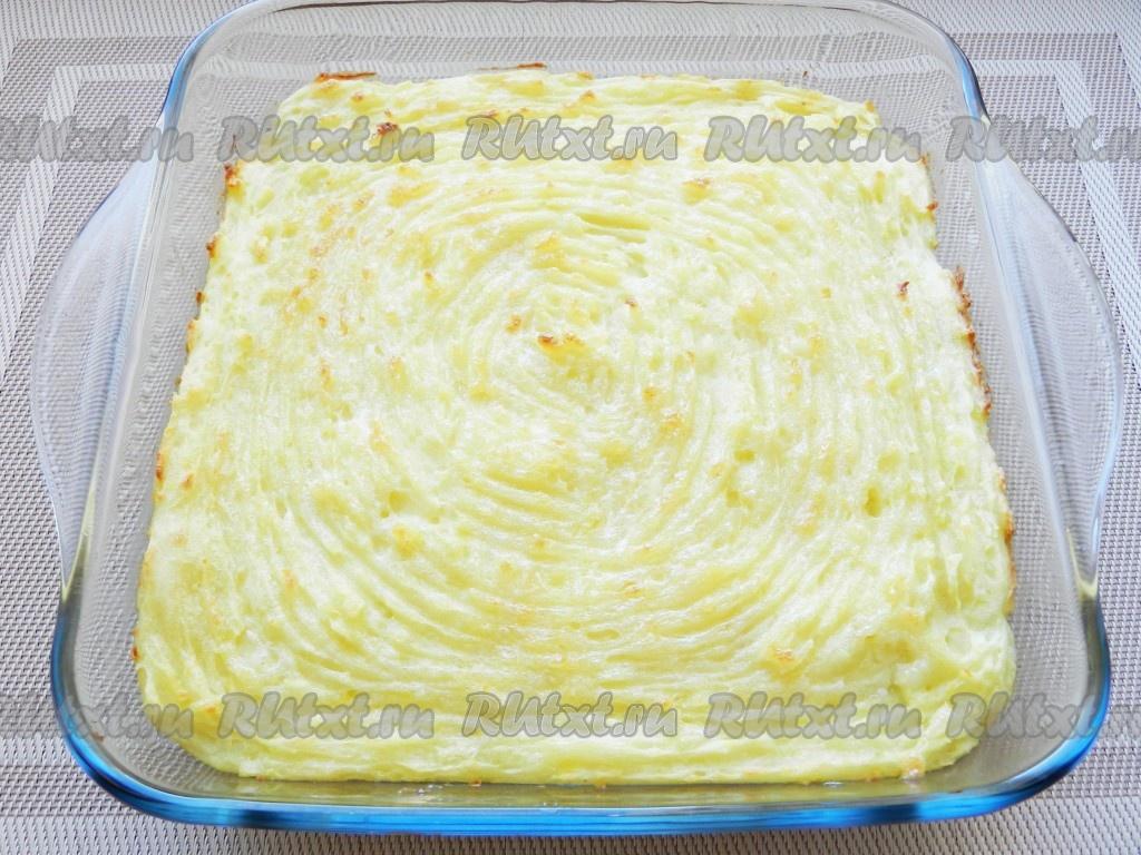 рецепт пирога с пюре и фаршем в духовке