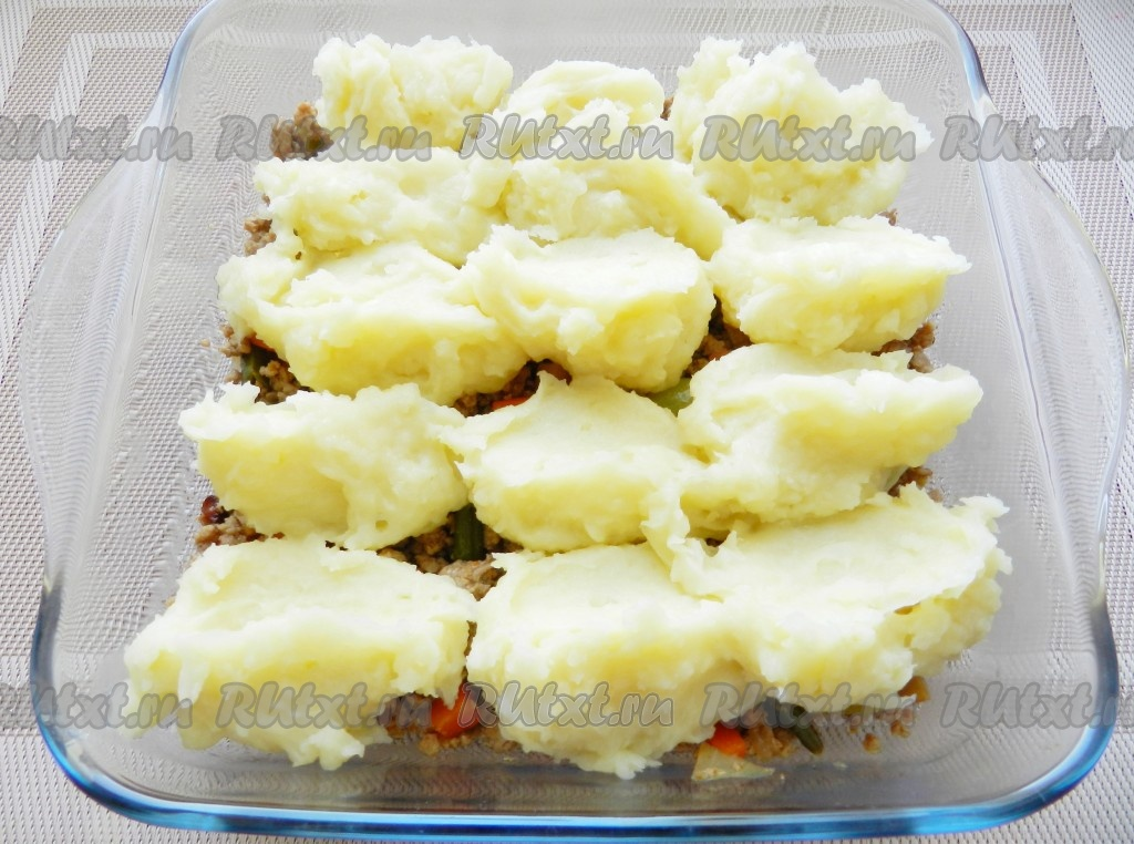 картофельное пюре с фаршем в духовке рецепт с фото