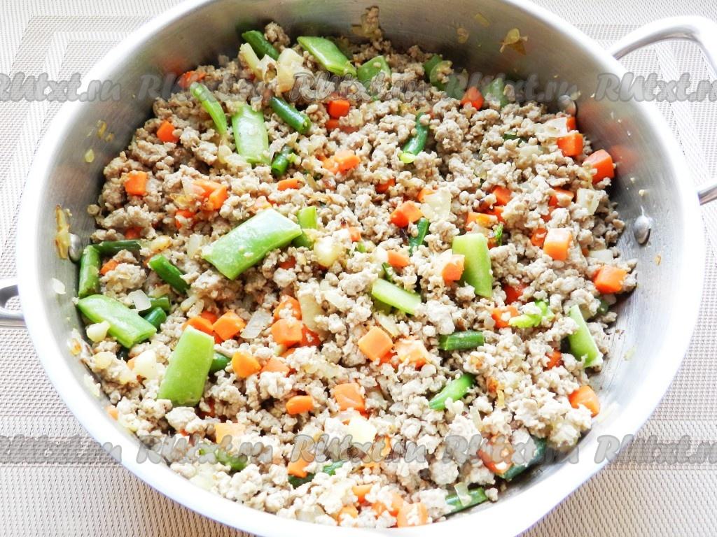 Картофельная запеканка с фаршем и овощами в духовке рецепты с фото