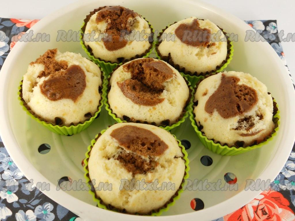 рецепты кексов начинкой фото пошагово