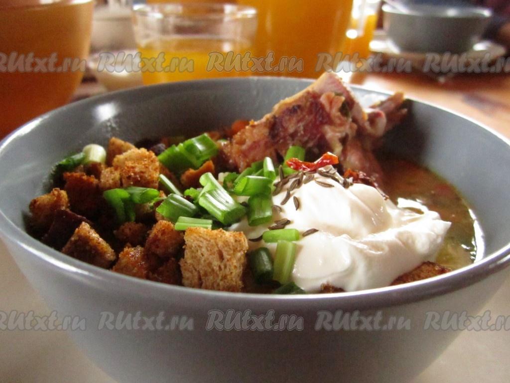 гороховый суп рецепт с копчеными свиными ребрышками