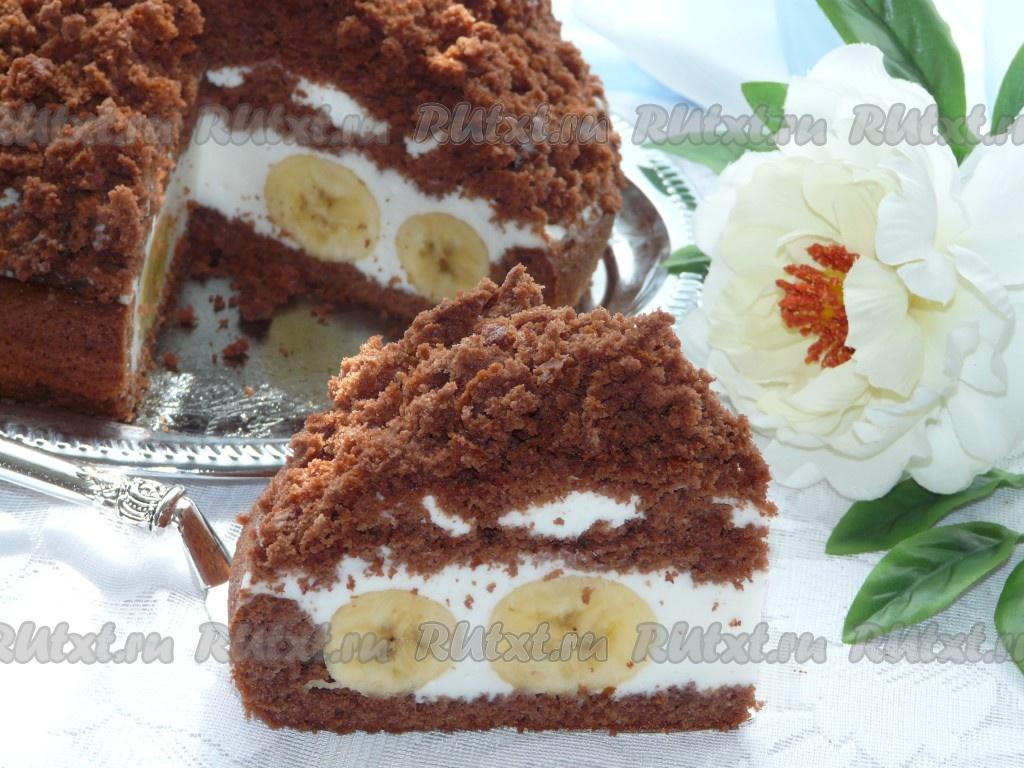 Торт норка крота с бананами фото