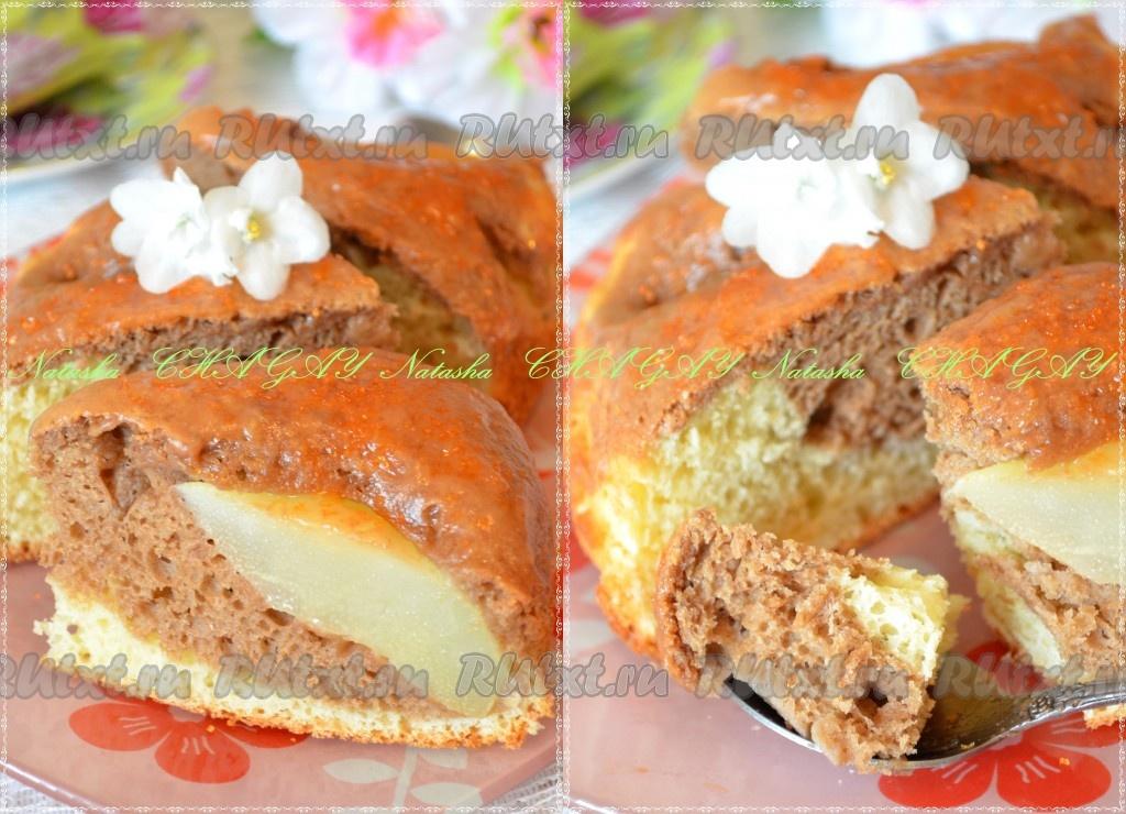 Бисквит с грушами рецепт с фото