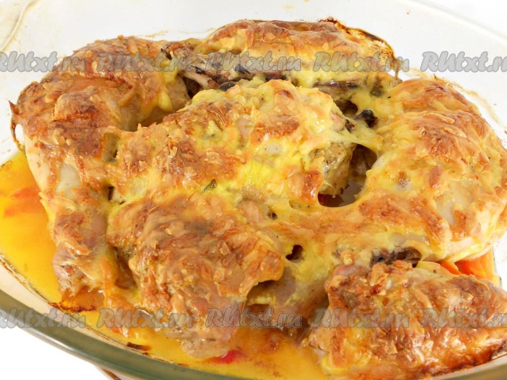 рецепт курица с картошкой в духовке под сыром с