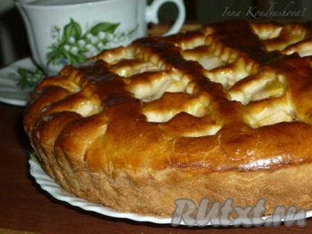 Пирог на кефире с яблоками - пошаговый рецепт с фото на ...