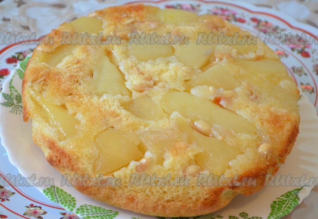 пирог с грушами перевертыш рецепт с фото