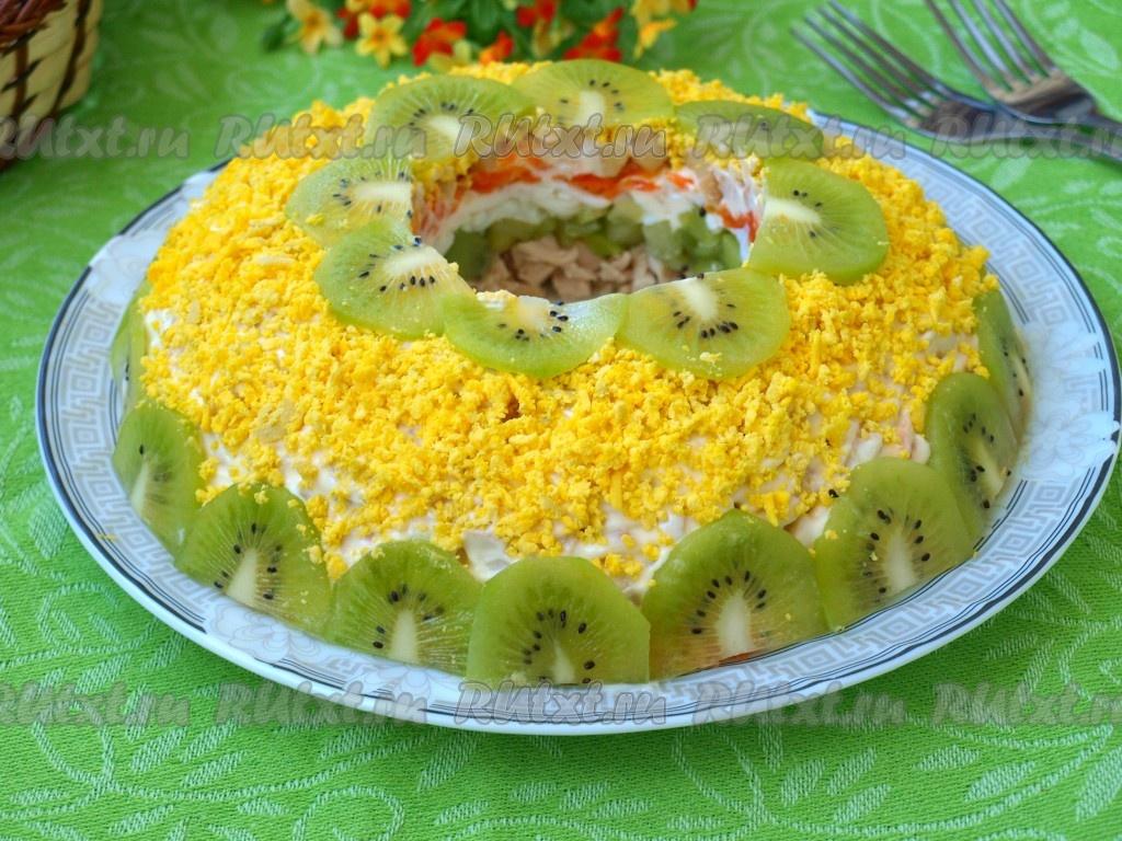 слоеный салат с киви